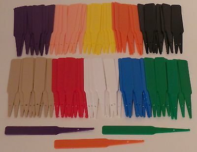 """4"""" Inch Multi Colour Top Quality Plastic Arrow Plant/Seed Labels *New* (100)"""