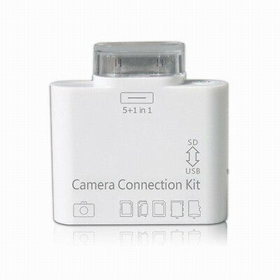 5 in 1 usb camera connection kit USB SD TF MS card reader for iPad ipad2 white