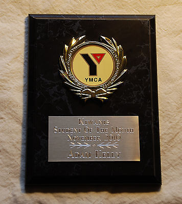 YMCA Award Plaque 6x8 Trophy FREE engraving