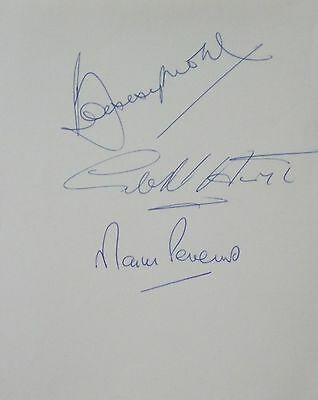 England 1966 World Cup Signed Bobby Moore Geoff Hurst Martin Peters autograph