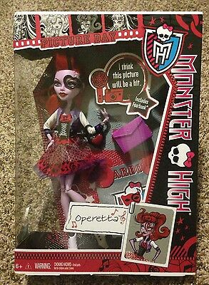 Monster High Picture Day Operetta Brand New Very Hard To Find Rare Ready To Ship