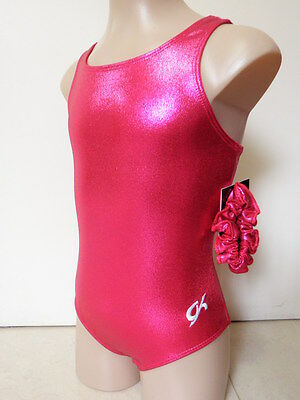 NEW GK PINK SHINY FOIL CS 46cm Sz 6 Gymnastics Leotard