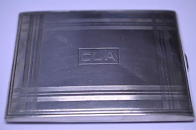 Antique William B. Kerr Sterling Silver Cigarette Case With Cla Monogram