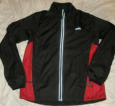 Running Room Fit Wear Women's Jacket Vest extra small RED BLACK reflective