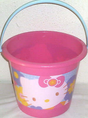 NEW LARGE HELLO KITTY TOY lot GIFT SET EASTER TOYS BUCKET BASKET EGG HUNT