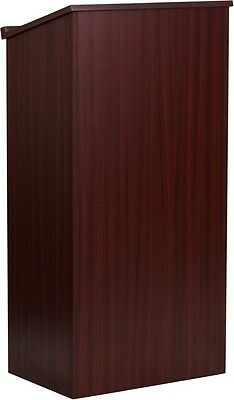 Mahogany Stand Up Lectern Podium with Shelf - Church Podium - School Lectern