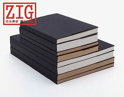60/100 sheets sketchbook sewing case with sleeve cover White/Kraft paper 2 sizes