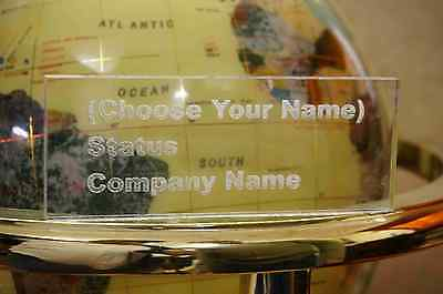 Acrylic Name Plate Desk Bar Free Personalized Engraved ( A vast Selection Fonts)