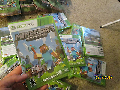 Minecraft  Xbox 360 ( 1 ) BRAND NEW FACTORY SEALED NTSC HARD TO FIND IN STORE