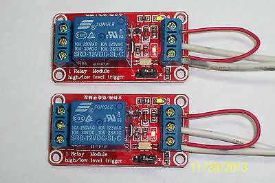 Usa! 2 Pcs - 12Vdc - 1 Channel High/Low Level Input, Opto Relay Board New!