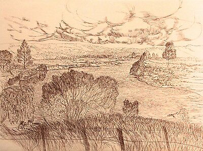 """SALVATORE ZOFREA """"Untitled 5"""" Limited Edition Etching, P/P"""