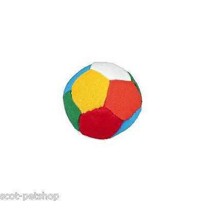 NEW 24 Brightly Coloured Canvas 6 cm Soft Soccer Toy Dog Balls 3470