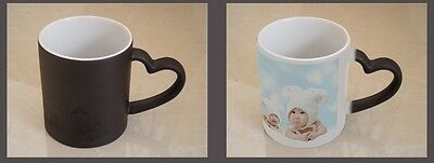 custom personalized magic cup mug, heart holder, picture photo printed