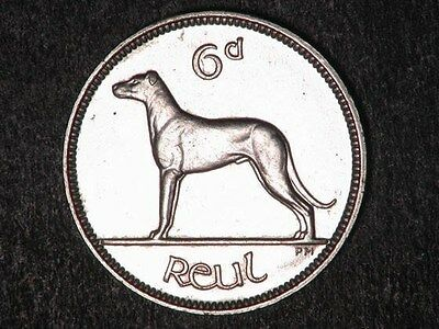 IRELAND 1928 6 Pence Coin *UNC* Lustrous - Beautiful Coin