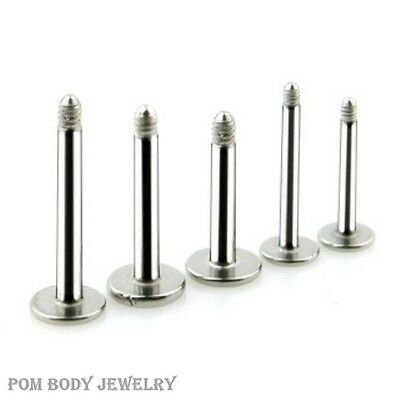 5pc Pack 316L Surgical Steel Externally Threaded Replacement Post Labret Shaft