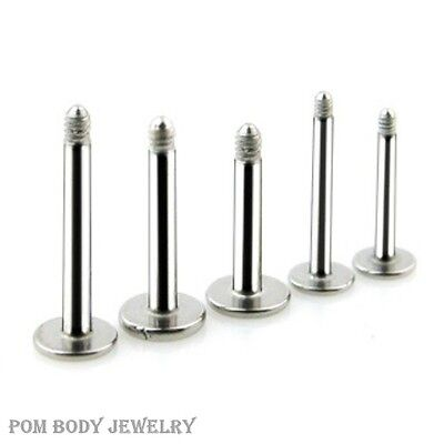 10pc Pack 316L Surgical Steel Externally Threaded Replacement Post Labret Shaft