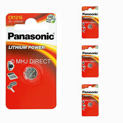 4 x Panasonic CR1216 ECR1216 DL1216 3v Lithium Batteries Coin Cell Use By 2027