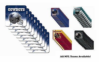 NFL NEW Drink Cup Coasters Set - CHOOSE YOUR TEAM