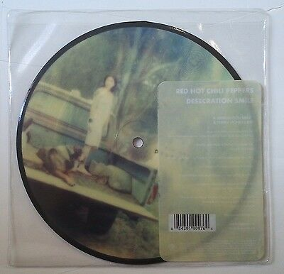 """Red Hot Chili Peppers Desecration Smile Single 7"""" UK fotodisco color"""