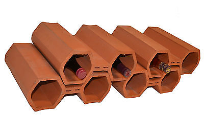Wine Bottle Cellar Storage Racks home Vinyard Terracotta Stackable Modules