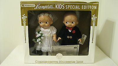 Horsman Campbell Kids Special Edition Millennium Issue Bride and Groom Dolls
