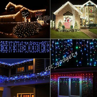 5M 224LED Snowing Icicle Fairy Light Indoor Outdoor Christmas Hanging Decoration