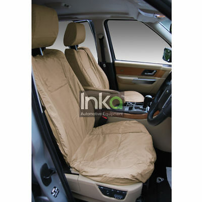 Range Rover Sport L320 Front Inka Tailored Waterproof Seat Covers Beige 09-13