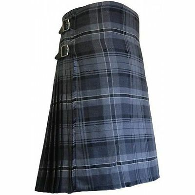 Brand New High Quality Deluxe Hamilton Grey Exclusive 8y Kilt All Sizes 50 - 56