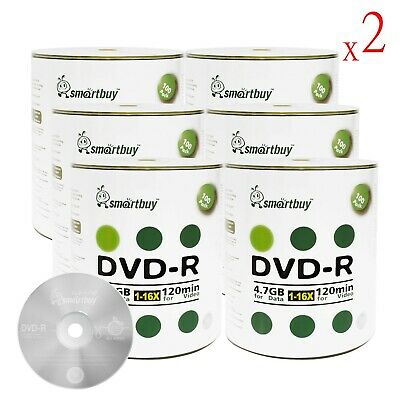 1200-Pack SmartBuy Blank DVD-R 16X 4.7GB Logo Top Surface Recordable Media Disc
