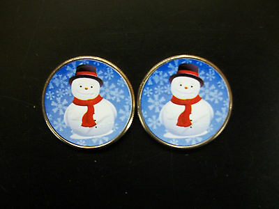 Two Colorized Frosty The Snowman Half Dollars