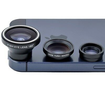 3-in-1  Fish eye +Wide Angle +Macro Lens For iPhone6 6Plus 5S 5C 5 4S 4