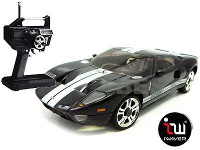 New Iwaver 02M Ford Gt40 Black Le Mans Rc Car 1:28 Fm Rtr Mini-Z