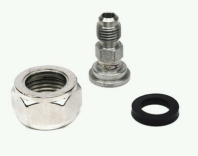 1/4 inch male flare to 7/8 inch tail piece / ball/pin lock to standard keg tap