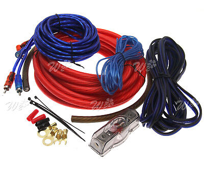 100A 2000W 4 GAU Car Amplifier RCA Wiring Fuse Audio Sound Speaker Cable