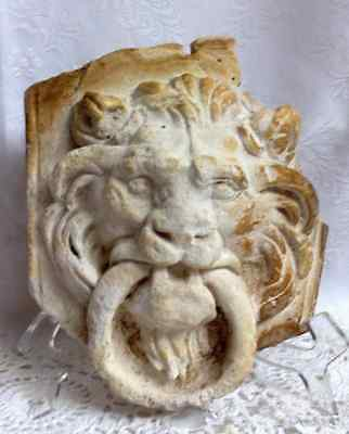 Rare antique roman italian lion head decoration tondo