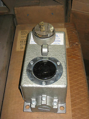 Westinghouse 120 volt  Electrical Receptacle Outlet W/Locking Plug NEW (tag# 329