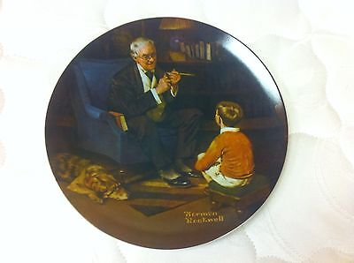 NORMAN ROCKWELL HERITAGE COLLECTOR PLATE The Tycoon KNOWLES FINE CHINA W/COA