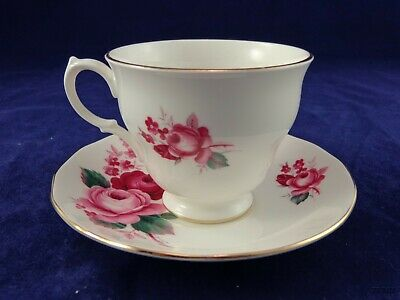 Ridgway Potteries Queen Anne Fine Bone China Cup & Saucer # 8523 Roses England