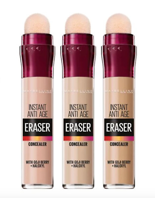 MAYBELLINE Instant Anti-Age THE ERASER Eye Perfect Cover Concealer NEW SHADES!