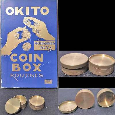 Okito Coin Box Routines MAGIC TRICK Book Instructions Step-by-Step Easy
