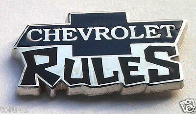 CHEVROLET RULES  CHEVY LOGO Automotive Hat Pin P05212 EE