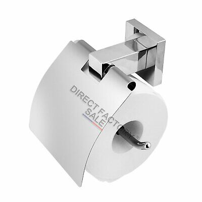 Toilet Paper Roll Holder Waterproof Cover Chrome Bathroom Accessories Wall Mount