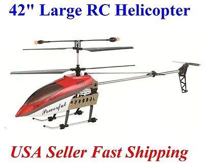 """42 Inch 2 Speed GT QS8005 3.5 Ch 42"""" RC Helicopter Builtin GYRO NEW VERSION Red"""