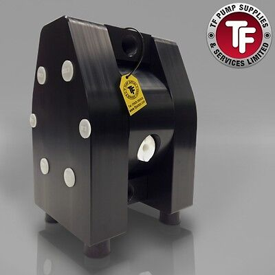 "1/2"" Dellmeco Air Diaphragm Pump–Solid PTFE Body-EPDM-PTFE Seals-Atex"