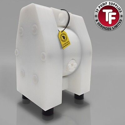 "1"" Dellmeco Air Diaphragm Pump–Solid PTFE Body-PTFE Seals"