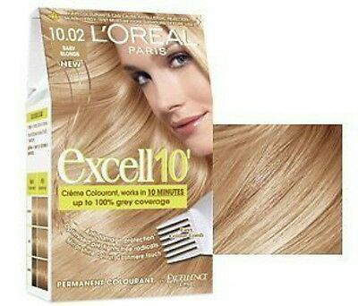 L'Oreal Excell 10' Hair Colourant -10.02-Baby Blonde