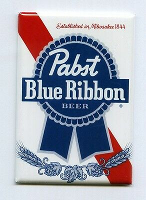 PABST BLUE RIBBON / PBR - MINI POSTER FRIDGE MAGNET (classic vintage beer label)