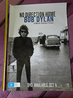 bob dylan martin scorsese_USED_RARE PROMO POSTER_ships from AUSTRALIA!