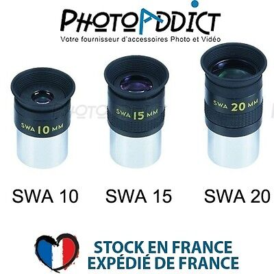 Pack 3x Oculaires Grand Champ BOSMA SWA 10mm+15mm+20mm / 31.75mm - Haute Qualité