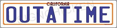 Back to the Future / OUTATIME Street Sign License Plate. ALL ALUMINUM -delorian